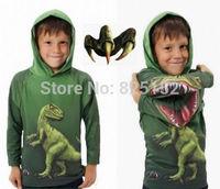 Baby Boys Hoodie Sweatshirt Dinosaurs Halloween Cartoon Sport Wear Cosplay Show Costume Kids Children Clothes Sweater Sudaderas