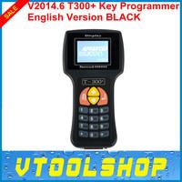 2014  Black V14.6 T300 Key Programmer Newest Version Auto Transponder T-300 T 300 Key Maker Read IMMO&ECU ID EN/SP Free Shipping