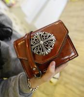 2014 new handbag retro British wax leather laptop messenger bag small bag mini chain bag diagonal package 120801