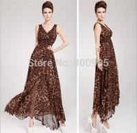 Women ladies Dress summer fasional clothes , retail Woman lady Dresses leopard print clothing
