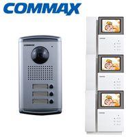 Commax 3AC Apartment Door Camera intercom Panel + DPV-4PNC 4.3 inch Color Video DoorPhone indoor Monitors