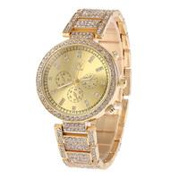 New Women Dress Watches Geneva Stainless Steel Wristwatch Women Watch Luxury Casual  Rhinestone Quartz watch W-2222