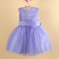 high quality children girl flower mesh lace tutu party dress sundress 2-8 years
