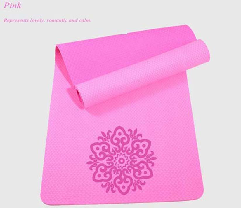 TPE yoga mat 8mm yoga dance sport MATS Circle flower DH04(China (Mainland))