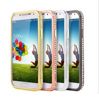 Luxury Crystal Rhinestone Diamond Bling Bumper Case Cover Metal Phone Frame for Samsung galaxy s4 i9500 PT4082