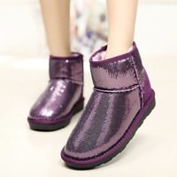 2015 Fashion Glitter Sequins Women Winter Boots Waterproof and Warm Shoes Winter Boots Women Snow Boots