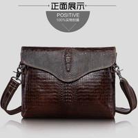 Crocodile  genuine leather men's Shoulder Bag Messenger Bags for men male bag handbag Flat computer bag  briefcase bag