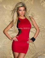 Factory directly solid o-neck dresses women sexy club party wear vestidos de fiesta free shipping
