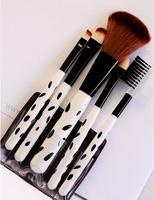 Professional Pony Hair Eyeshadow Brushes Makeup Brushes Sets Kits 5 pcs Make-up Brushes Makeup Tools Kit Black + Round Tube Y51