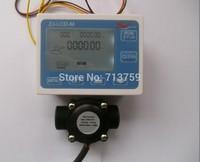 "Free Shipping Digital LCD Quantitative Water Flow Controller Flowmeter Counter + G3/4"" Flow Sensor Meter"