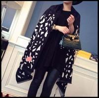 ladies scarves leopard Print luxury scarf Carshmere Black Fashion Winter Scarves women brand scarf