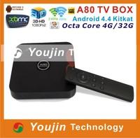 2014 Latest Hot Offer Allwinner Octa Core ARM A15/A7 WIFI 1080P Octa Core Allwinner A80 Tv Box
