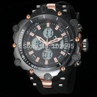 HOT Sale Readeel Fashion Vogue Men Watch Military Men Sports Watches 2 Time Quartz Digital Watch Rubber Band Watches Men Clock