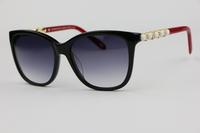 Unisex Sunglasses TF4107 Black frame red legs Elegant Cute Fashion wild  Gradient Lens Anti-UV 400