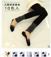 100pcs 2014 plus cashmere leggings woman girls Casual Warm Winter Knitted Thick Slim Patchwork Leggings Super Elastic 7 color