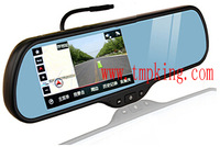 T8F 5inch car DVR rear view mirror glasses G-sensor with Parking smart system CE certified