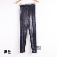 leggingSpring European and American big yards leather pants factory direct high -quality matte leather pants feet candy colored