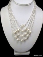 BD103 Retail Free shipping fashion harnes body  imitation pearls necklace jewelry