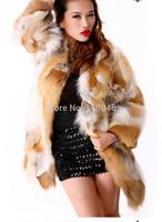 z84 New hot sale European real natural red fox fur long coat plus size jacket for luxury women winter warm overcoat parkas