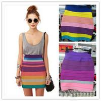 2015 Spring New Arrival Elegant Slim Over Hips Short Bandage Skirt Women