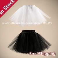 2015 Wholesale Cheap vestido Short Black Petticoat Underskirt anagua crinoline White Skirt Wedding Accessories DS004