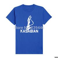 British Music Rock Band Kasabian Tshirts Retro Fashion Style Loose T Shirts Men Plus Size Short Sleeve T-shirts