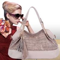 2014 Hot Women Genuine Leather Bags Women Handbag Fashion bolsos Vintage serpentine tassel messenger Bag Portable Shoulder Bags