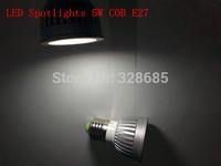 5pcs/lot LED Spotlight 5W white/warm white AC90-260V E27/GU10/E14 Aluminum shell and light Super bright