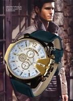 DZ luxury brand watches automatic date quartz watch, men's fashion casual men's leather strap watch sports watch