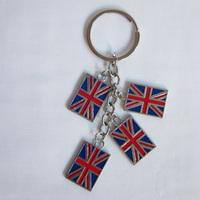 UK London keyring London souvenirs key chains new London 4 charms key ring with guitar charm free shipping !