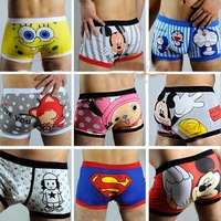 New Men's Boxer/Cotton Material Cute Soft Cartoon Underpants/Man Mens Underwears Low Waist/cheap price Wholesale