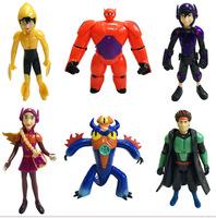 Big Hero 6 PVC Figure Loose 6 pcs set toy Cartoon & Anime movie 17 cm