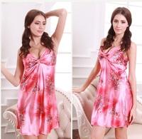 sexy silk nightgown big yard silk female pajamas _S01F