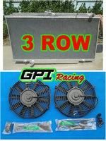 Aluminum Radiator + 2x fans for Nissan PATROL Y61 GU 4.2L TD Diesel 1997-2001 1998 1999 2000 97 98 99 00 01 MT