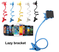Universal Two Clips Mobile Phone Holder Bed Desktop Mobile Stand 80 cm Flexible Extendable Lazy Bracket For Iphone Samsung