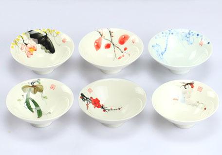 Jingdezhen ceramic tea cups hand painted blue and white porcelain tea cup set Kung Fu tea