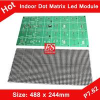 Express Indoor F5.0 P7.62 Single Red Color LED Dot Matrix Module 488*244mm 64*32 Pixels for LED Traffic Sign, Advertising