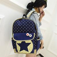 Canvas Fashion Pentagram Printed Women School Backpack Five-Pointed Star Casual Bolsas Mochilas Femininas Women Travel Bags