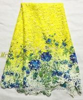 L321024  Free Shipping !! Multi Color Cord Lace / Multi Color Cupion Lace / Multi Color Chemical Lace