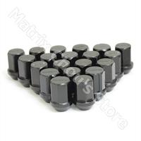 Black Color, RAYS Volk Racing Wheel Nuts / Wheel Screws Anti-theft Lock Nuts Lug Nuts Duralumin Length 35MM M12 X 1.5