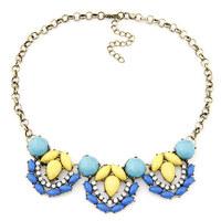 New Vintage Gold Chain Imitated Gemstone Jewerly for Women Statement Choker Collar Femininos Necklaces Bijuterias Accessories