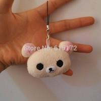 12 pieces/lot For Sale Wholesale 5cm Kawaii Cute Mini White Teddy Bear Rilakkuma Stuffed Animal Plush Soft Toy Doll