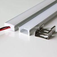 30m (30pcs) a lot, 1m per piece anodized led aluminum profile extrusion for led flexible strips light