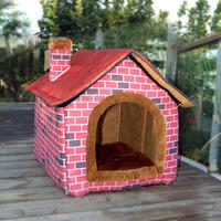 Farmhouse villa design Pet Dog Cat House/kennel Free Shipping