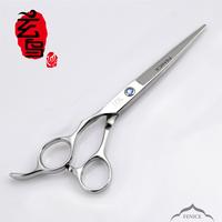 Barber scissors hair scissor professional left-handed scissors flat cut fringe 6