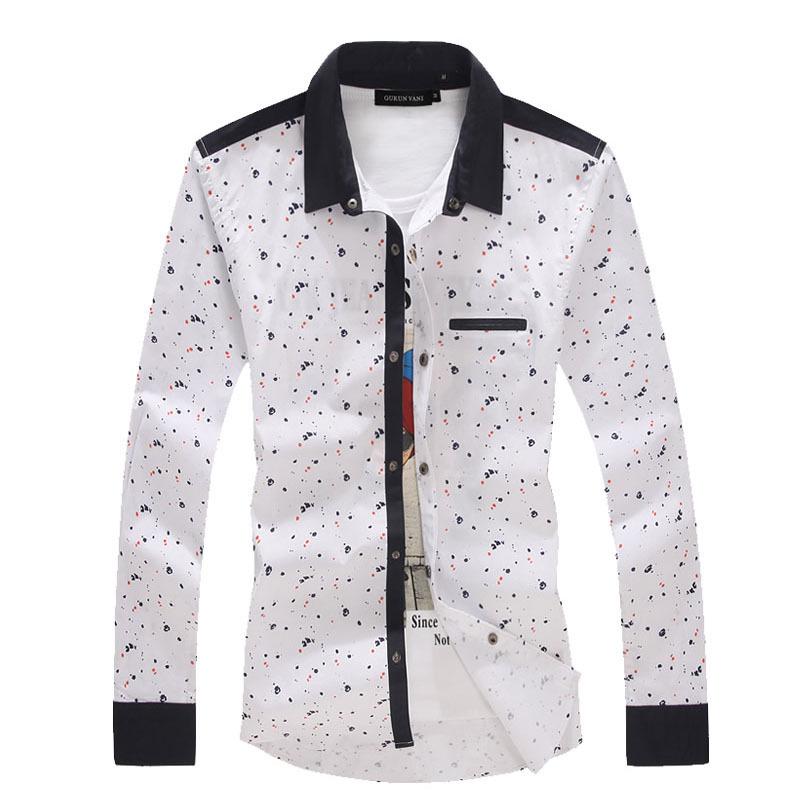 Best Selling alta qualidade homens camisas de vestido ocasional dos homens de algodão Top manga comprida camisa dos homens Slim Fit camisas sociais Plus Size M-5XL(China (Mainland))