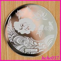 Free Shipping   Stamping Nail Art  8pcs/lot  hehe037  Nail Stamping Plates  hehe001-048