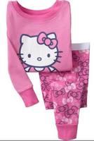 2013 new 100% cotton Hello kitty  Girl  pyjamas baby pajamas,children  pyjamas kids baby clothing kids pyjamas Retail 1set 2pcs