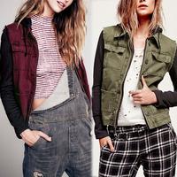 Fashion Retro Women Hooded Lapel Long Sleeve Jeans Hooded Coat 2 Colors Drop Shipping WF-8422