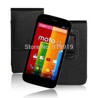 New Black Waist Hanged Belt Clip Leather Elegant New style Luxury Noble Bag Case For Motorola Moto G